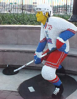Lego Hockey - Hartford Wolfpack Player in Lego