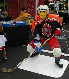 Lego Hockey - Ice Hockey Player in Lego