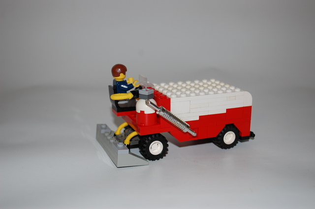 Lego Zamboni with Chrome Exhaust Pipe