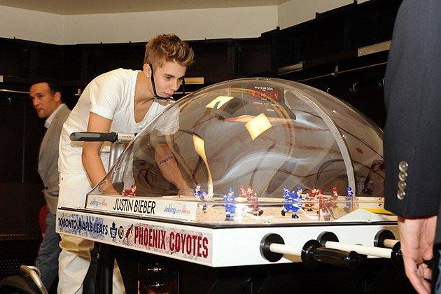 Justin Bieber Playing Bubble Hockey Glendale Arizona