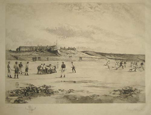 Rossall Hockey - Rossall School - Hockey on the Sea Shore - 1891