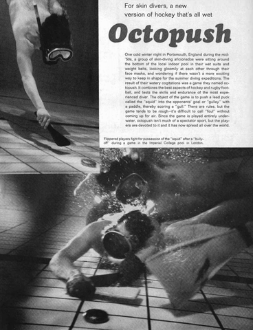 Underwater Hockey - Octopush - 1971 - London - England