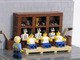 Lego Hockey Players - Hanson Brothers in Dressing Room