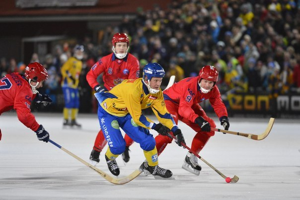 Russia & Sweden- Bandy World Cup - Game Action - 2013