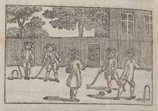 Antique Hockey - Woodcut Print - 1776 - by Master Michel Angelo
