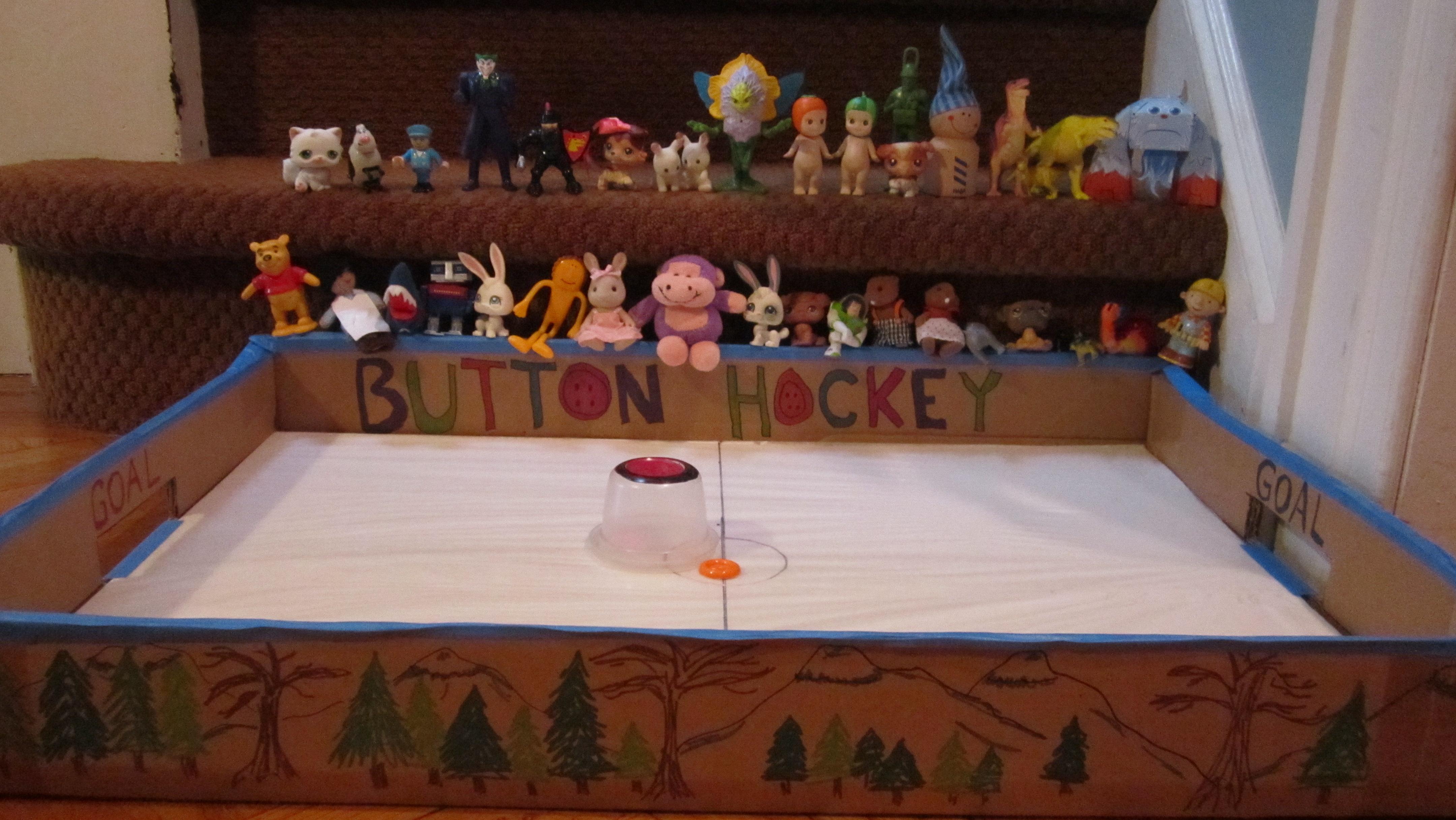 Button Hockey Game - Homemade Fun