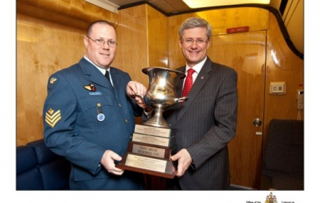 Canadian Prime Minister Harper & Marc Bellmare with Imjin Cup