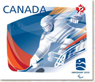 Sledge Hockey - Stamp - Canada Post - Vancouver 2010