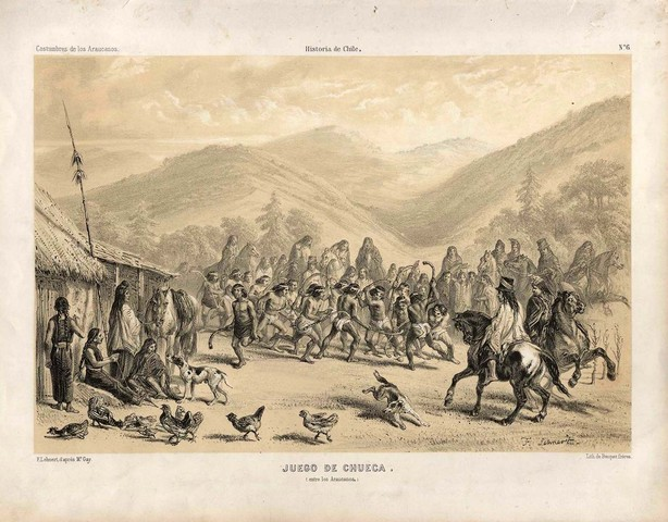 Juego de Chueca - Played by Mapuche Indians - 1854