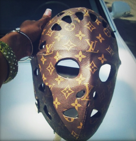 Custom Ice Hockey Mask - Louis Vuitton Style