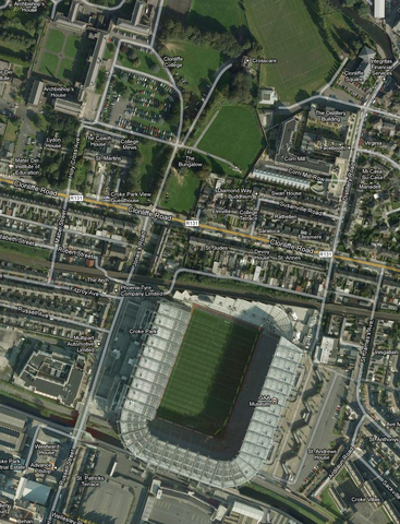 Croke Park - Satellite View - Dublin - Ireland