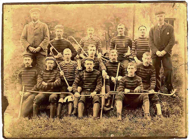 Antique Shinty Team - Scotland - 1890s
