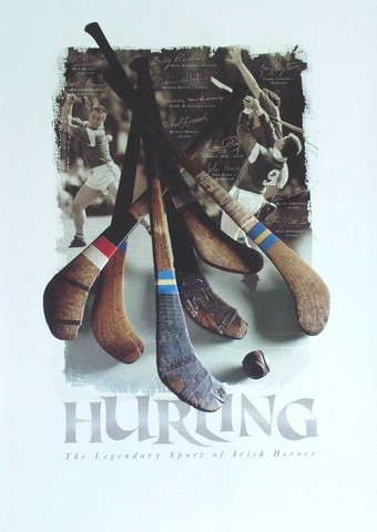 Hurling Poster - The Legendary Sport of Irish Heroes