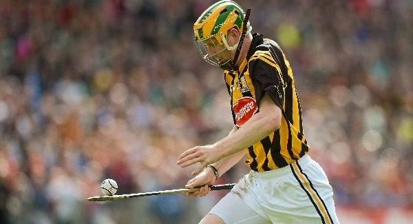 Richie Power of Kilkenny with the Sliotar on his Hurley - 2012