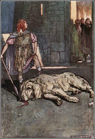 Cuchulainn Slays the Hound of Culain