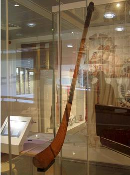 A Bando stick on display at St Fagans Museum in Wales