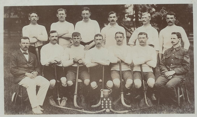 Antique Military Field Hockey Team - England - 1908