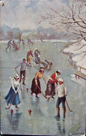 Antique Bandy - Color Postcard - 1909