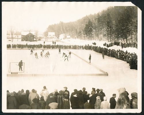 Antique Ice Hockey Game - Snow Carnival - Greenfield - 1923
