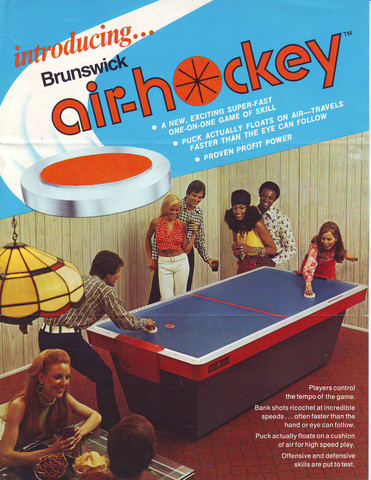 Brunswick Air Hockey - Sales Brochure - 1972