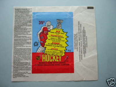 Hockey Card Wrapper 1984 2