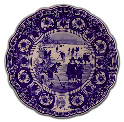 International Ice Hockey Federation Delft Plate - Hockey History