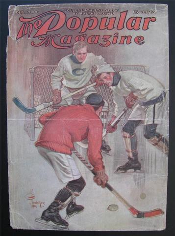 Antique Ice Hockey - The Popular Magazine - 1909