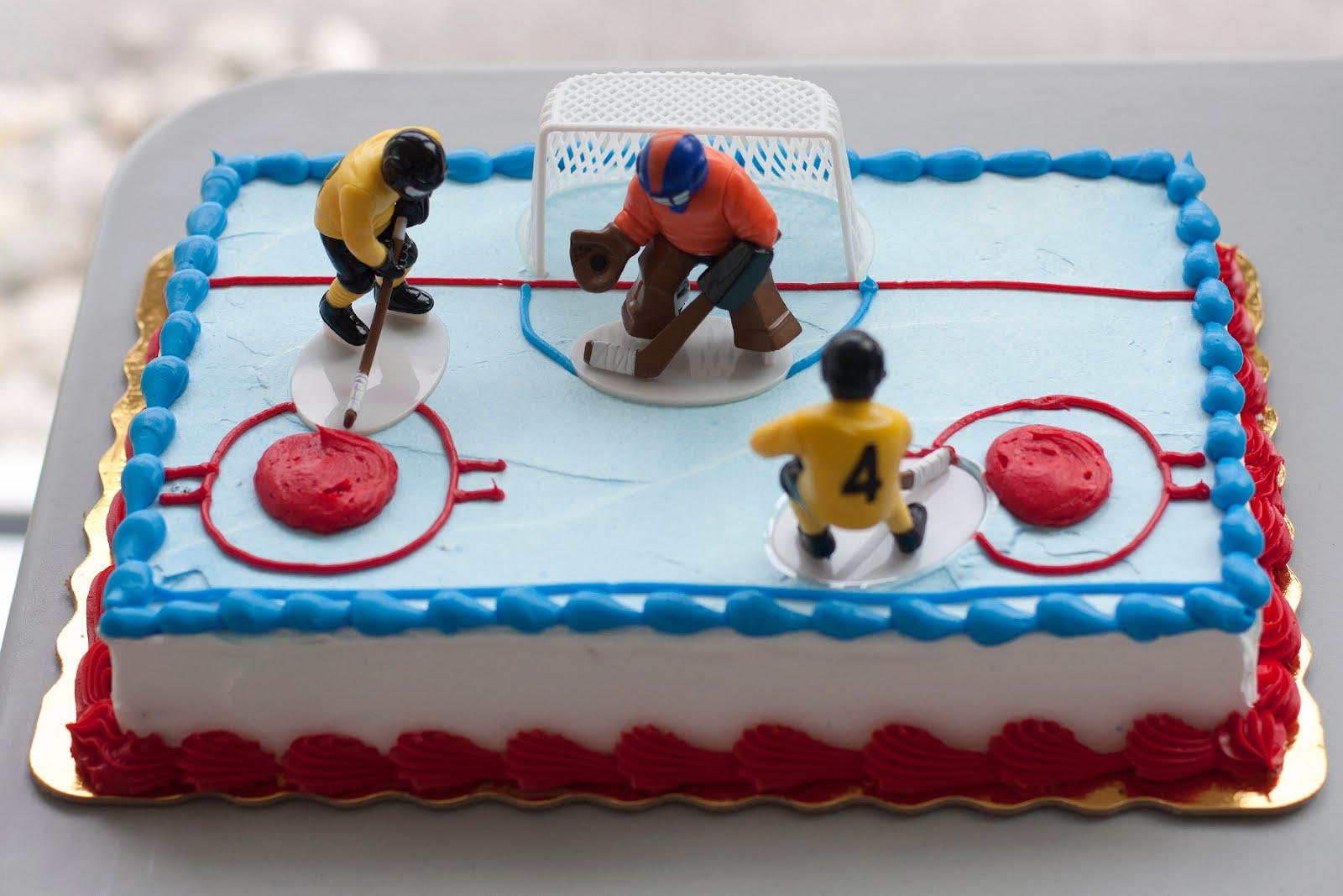 Ice Hockey Cake Pucks In The Glove Big Save Hockeygods