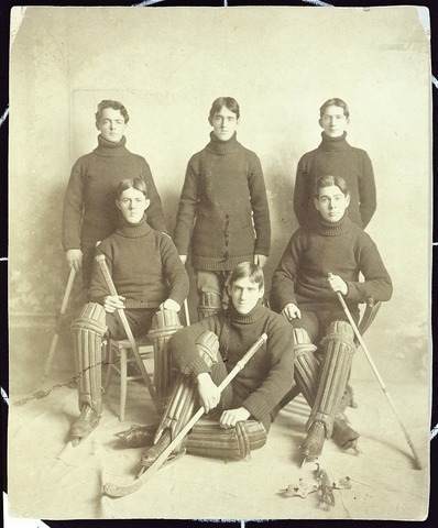 Boston College Ice Polo Team - 1896