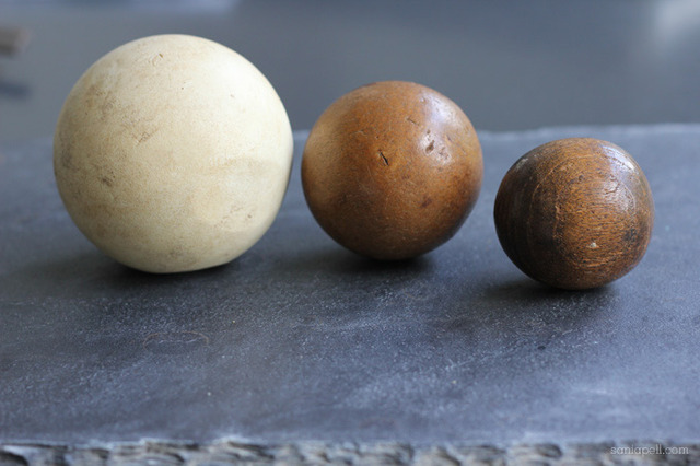 Antique Wood Balls - Polo Ball - Bandy Ball - Field Hockey Ball