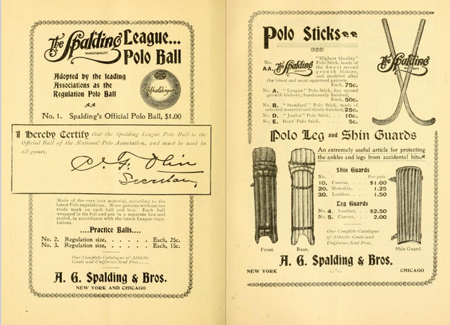 Antique Roller Polo - Spalding Ad - 1898