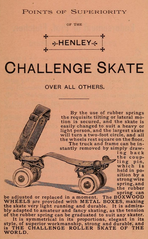 Antique Roller Polo - Henley Challenge Skate - 1885