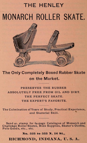 Antique Roller Polo - The Henley Monarch Roller Skate - 1885
