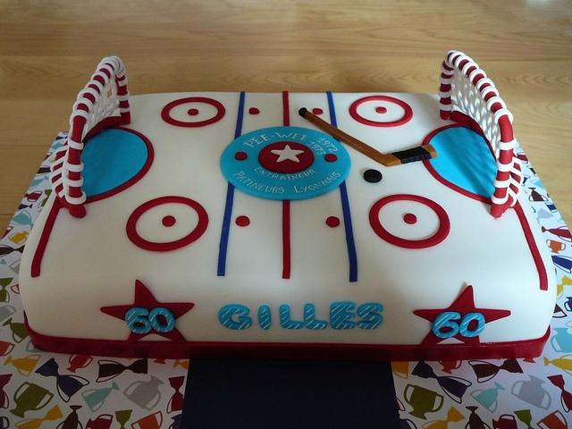 Custom Ice Hockey Cake Hockeygods