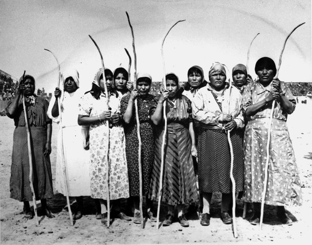 Pima Indian Women - Stick and Ball Game - Taka or Shinny