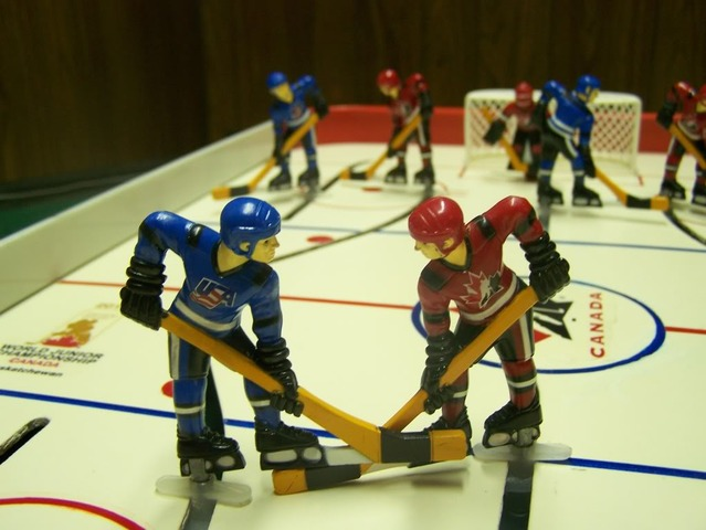 Custom Table Hockey Game - USA vs Canada