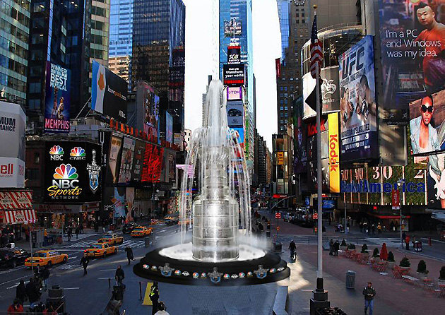 Stanley Cup Fountain - Times Square - New York City - 2012
