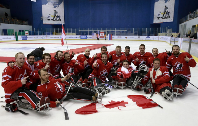 Team Canada - IPC World Sledge Ice Hockey Champions - 2013