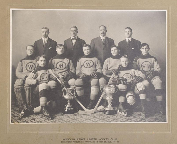 Antique Ice Hockey - Wood Vallance Hockey Club - Champions 1912