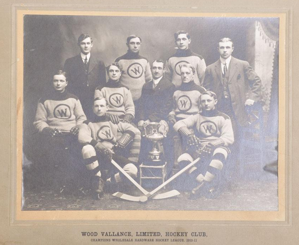 Antique Ice Hockey - Wood Vallance Hockey Club - Champions 1911