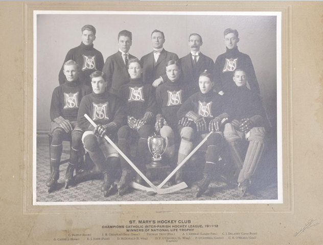 Antique Ice Hockey - St Mary's Hockey Club - Champions - 1912