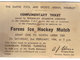 Canadian Forces Ice Hockey Ticket - 1946 - Wembley Stadium