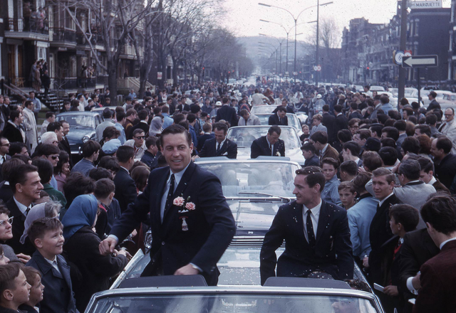 Montreal Canadiens Victory Parade with Jean Beliveau - 1966