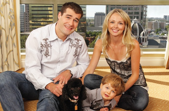 Patrick Marleau with his Family