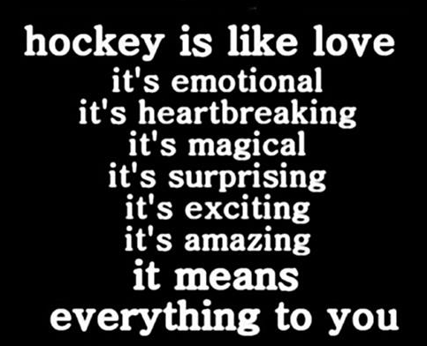 Hockey is Like Love - We Love Hockey - Hockey Love - Love Hockey