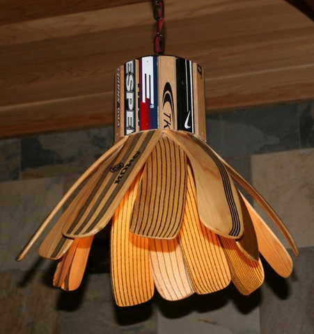 Hockey Furniture - Custom Hockey Stick Blade Hanging Lamp
