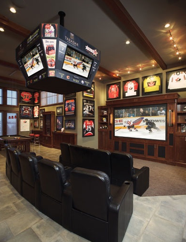 crazy hockey mancave