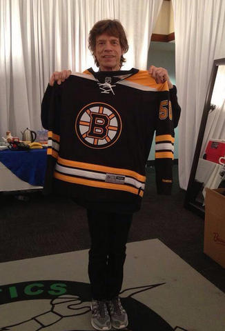 Mick Jagger - Sir Michael Jagger with a Boston Bruins Jersey