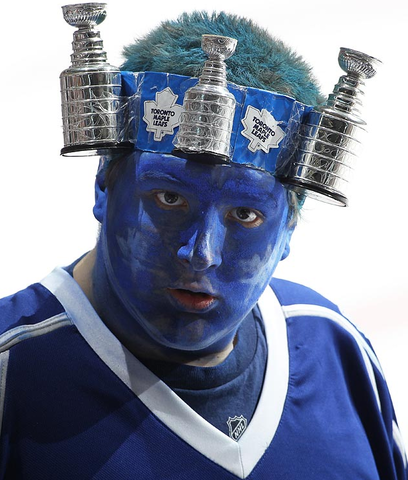Toronto Maple Leafs Fan With Stanley Cup Headband - 2013