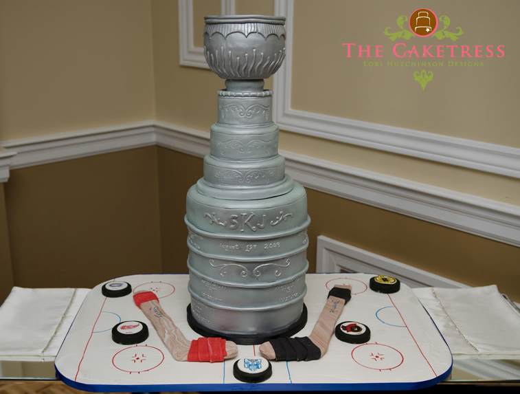 Stanley Cup Wedding / Birthday Cake - Made by The Caketress ...